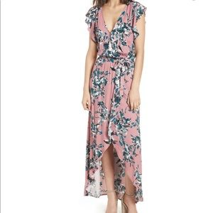 Splendid Floral Maxi Wrap Dress
